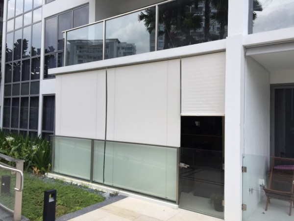 Heavy Duty Outdoor Roller Blinds In Singapore Mtm Curtains