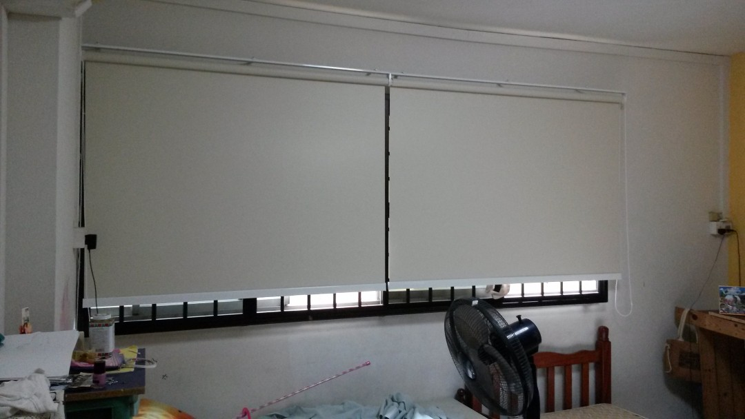 Toa Payoh Flat Refurnish with Roller Blinds new model