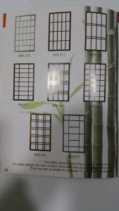 Window Aluminium Grill Samples 1 | | Window Grilles | Blinds in Singapore Mtm Curtains