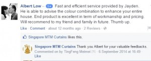 singapore mtm curtains facebook testimonial 2