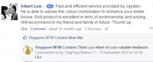 singapore mtm curtains facebook testimonial 2