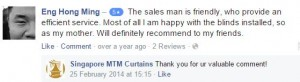 singapore mtm curtains facebook testimonial 4