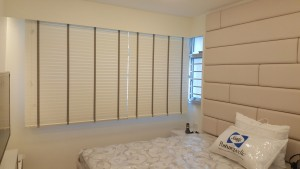 Timber Blinds Installation Completed - Master Bed Room