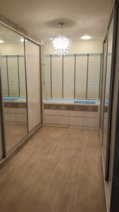 Timber Blinds Installation Completed - Walk-in wardrobe (2)
