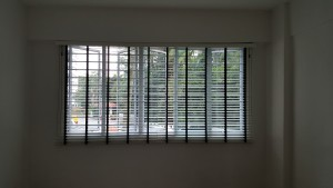 Timber Blinds Installed @ Botanic Gdn View - Slab Open (4)