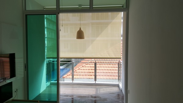 Motorised Outdoor Roller Blinds for condo