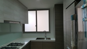 White Frosted Film for the Kitchen