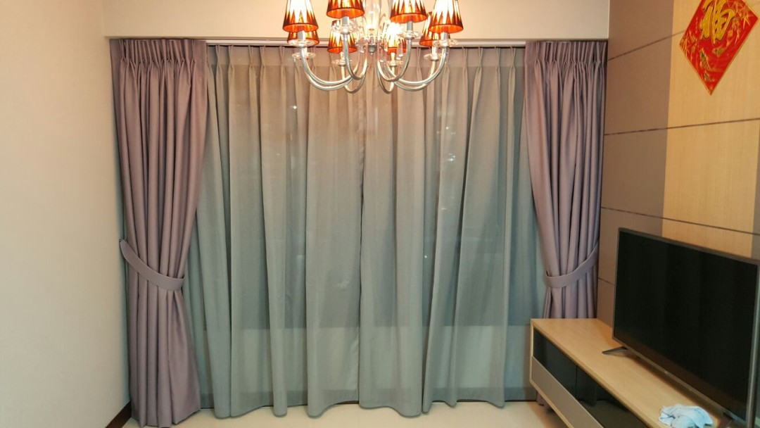 Punggol, Edgedale Plains – Day & Night Curtains