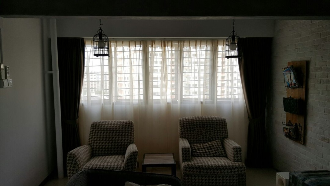 Canberra Jumbo HDB Flat – Curtains & Blinds