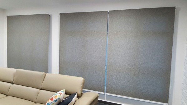 installed Dim Out Roller Blinds