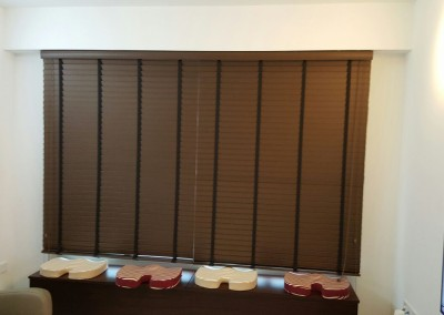 Punggol, Matilda Portico – Timber Blinds and Roller Blinds