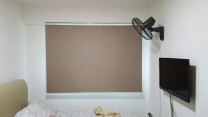 Punggol - Matilda Portico - Timber Blinds with Designed Roller Blinds (2)