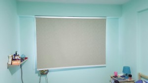 Punggol - Matilda Portico - Timber Blinds with Designed Roller Blinds (4)