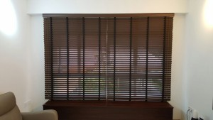 Punggol - Matilda Portico - Timber Blinds with Designed Roller Blinds (5)