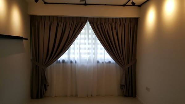 Punggol Waterway Brown Tone Night Amp White Day Curtains