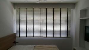 Rivervale Delta - Timber blinds in Master bedroom