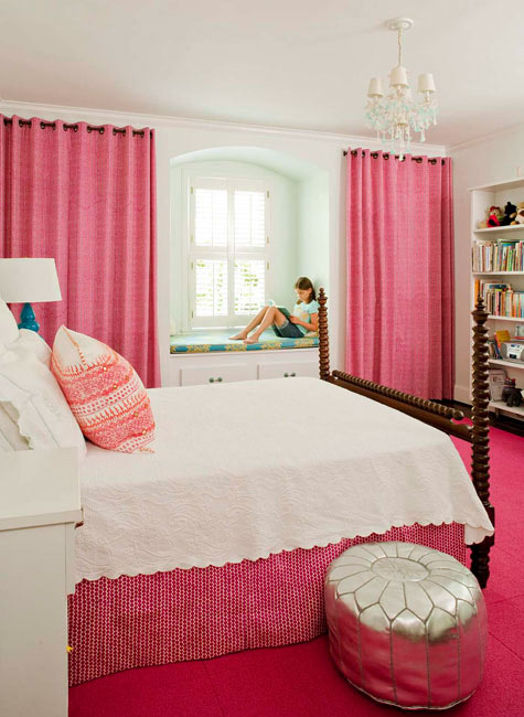 Pink Curtains for Girl|Curtains in Singapore Mtm Curtains