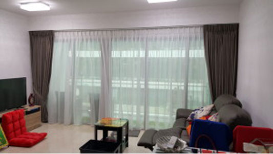 Night Curtains for Eight River Suites Condo (1)Best Color for Blinds|Curtains in Singapore Mtm Curtains