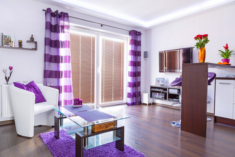 Purple Curtains in the Family Root| Curtains in Singapore Mtm Curtains
