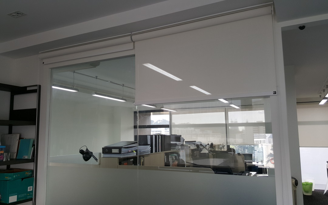 Henderson Office – Perforated Blinds & Frosted Film