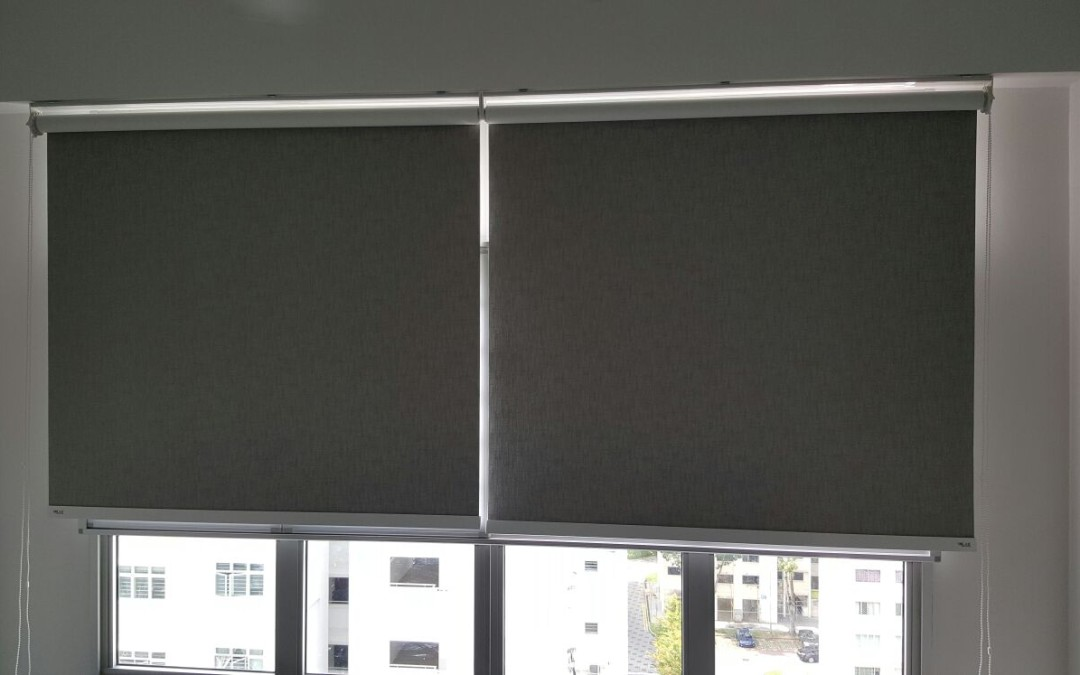 Orchid Spring @ Yishun – Fabric Blackout Roller Blinds
