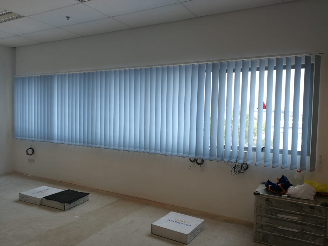 Blackout Vertical Blinds @ Loyang office