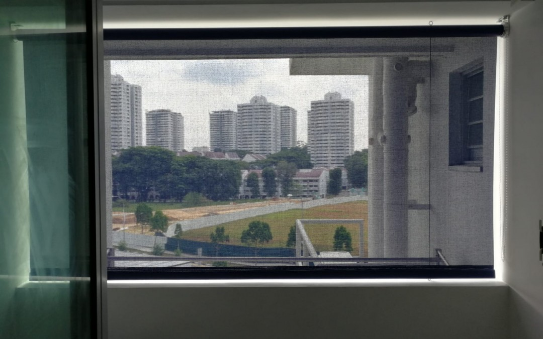 Benthin Heavy Duty Outdoor roller blinds @ Toa Payoh Crest