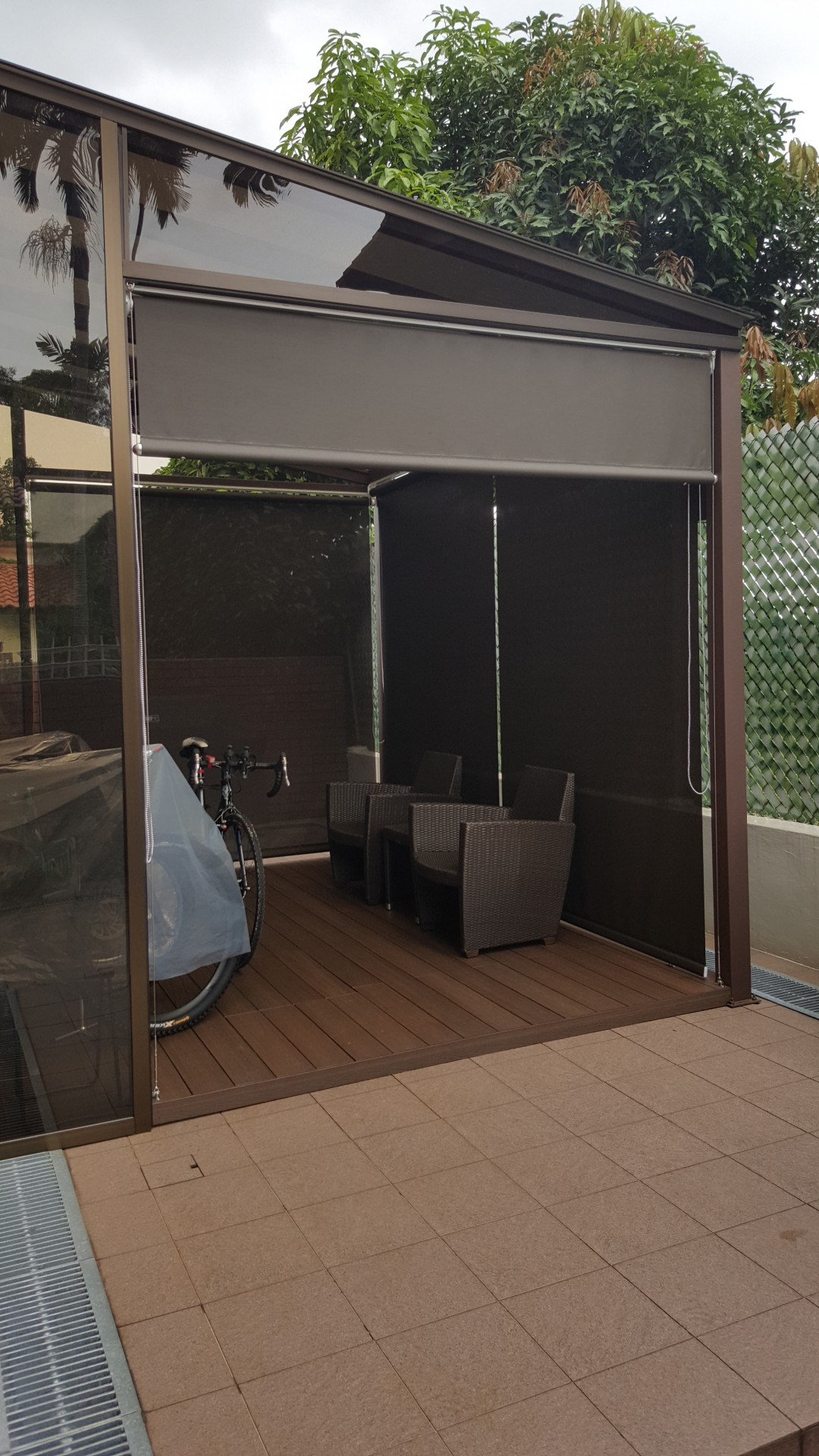 Outdoor roller blinds @ Brizay Park