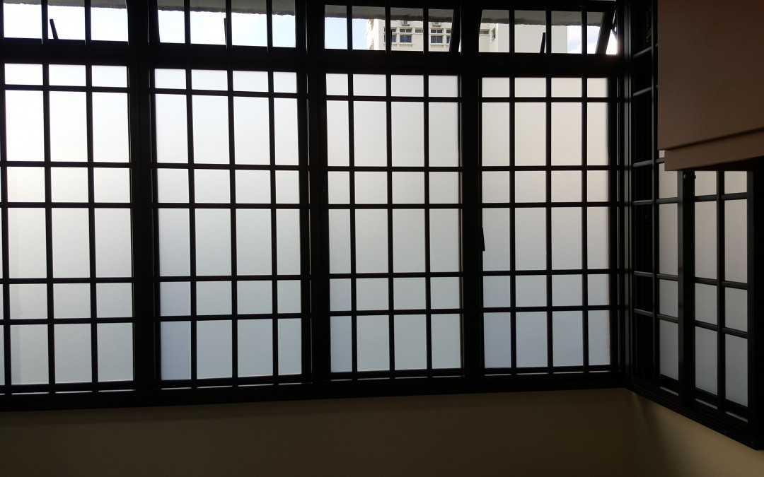 Frosted film & Roller Blinds Installed
