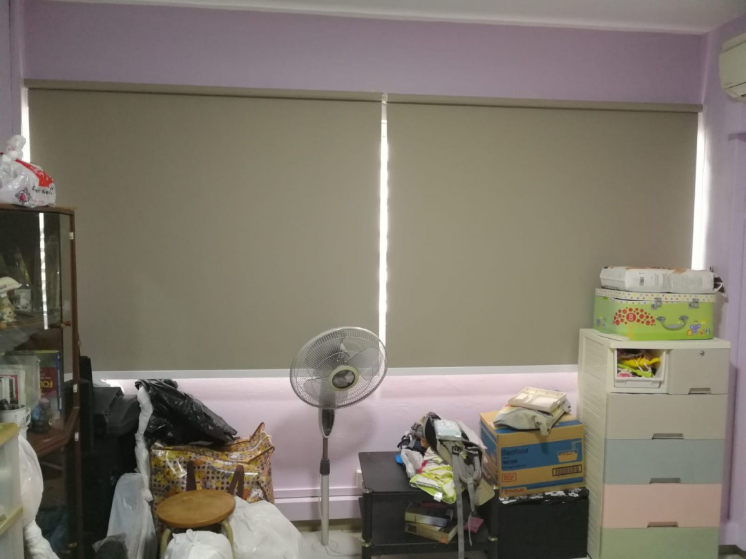 Blackout roller blind installed at Bishan