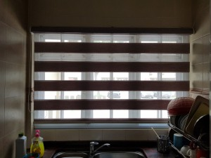Combi blinds kitchen open view