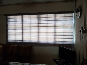 Combi blinds living room Close view