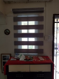 Combi blinds living room entrance open view