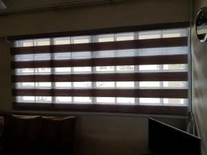 Combi blinds living room open view