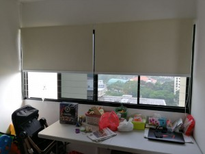 Creme Roller Blinds Installation at Toa Payoh HDB (2)