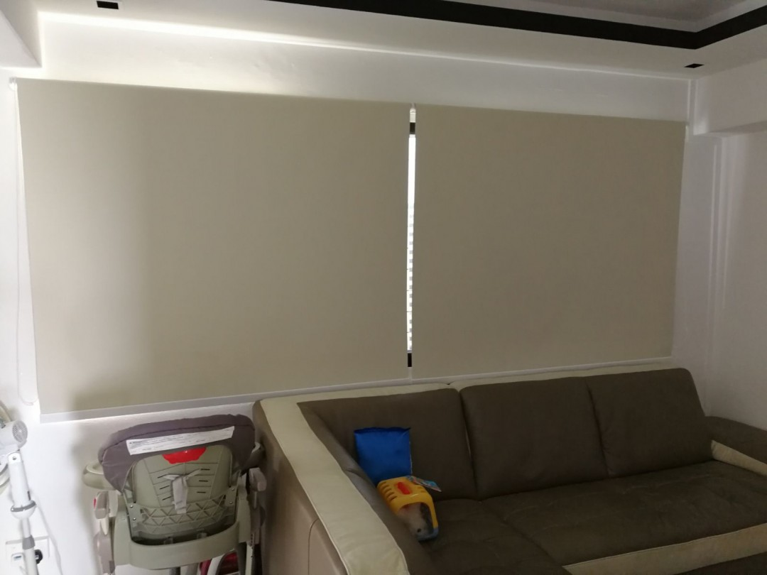 Creme Roller blinds at TPY