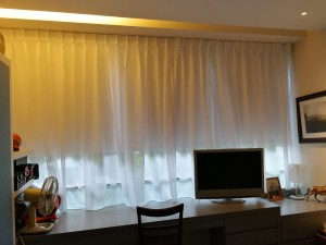 Day curtains installed after roller blinds by Singapore MTM Curtains at Nassim Road (2)
