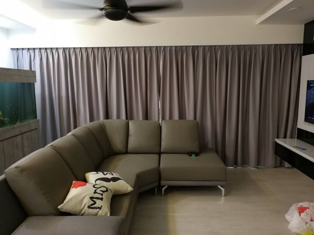 Dim out curtains & roller blinds