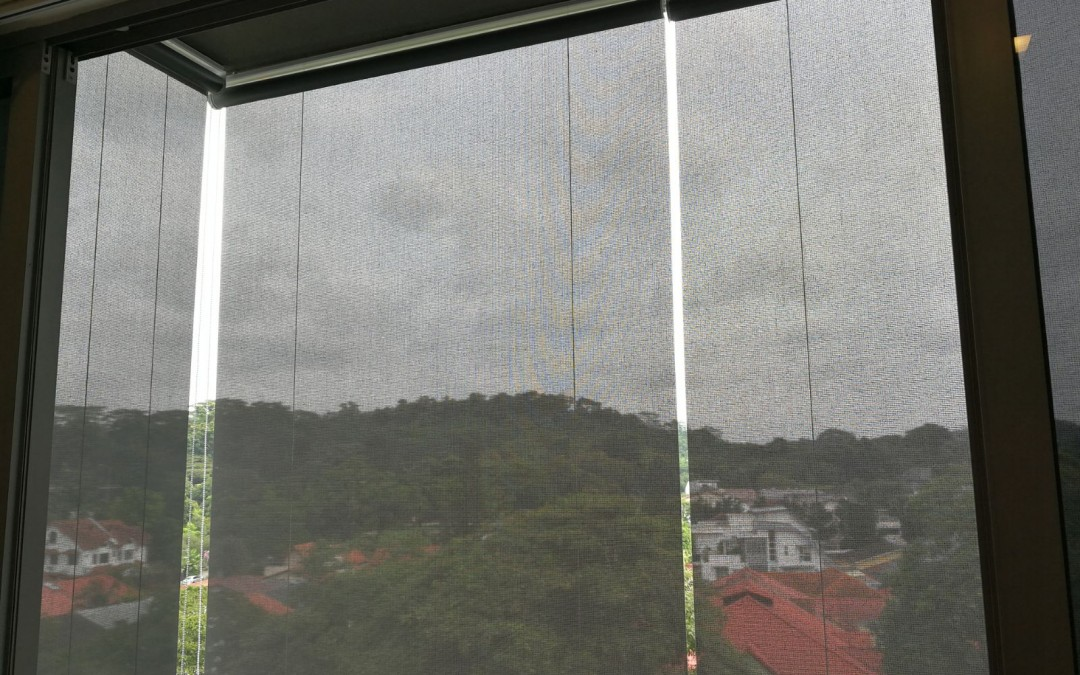 Outdoor blinds installed at suites de laurel condo