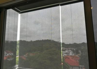 Outdoor blinds installed at suites de laurel condo