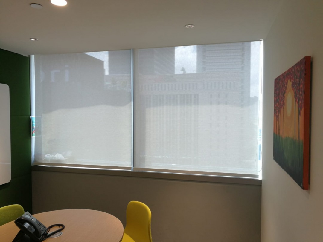 Office Perforated Roller blinds @ China Square Central