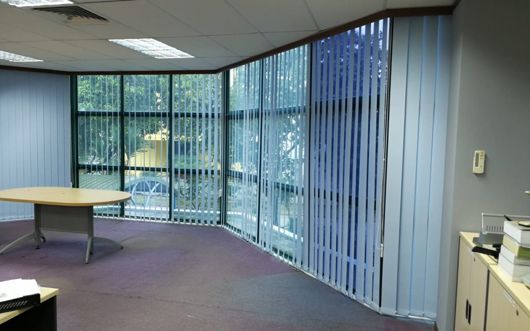 Vertical Blinds & roller at Tuas office