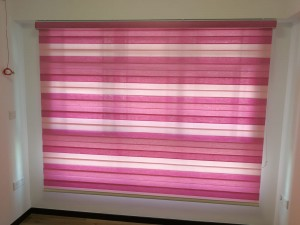combi blinds in pink